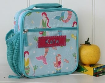 Lunch Bag With Monogram Classic Style Pottery Barn -- Mermaid Print
