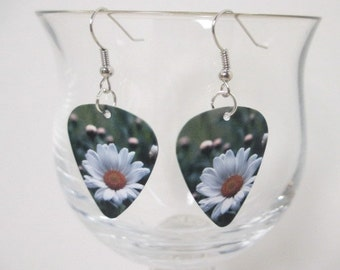 DAISY GUITAR PICK Earrings Dangle Charms
