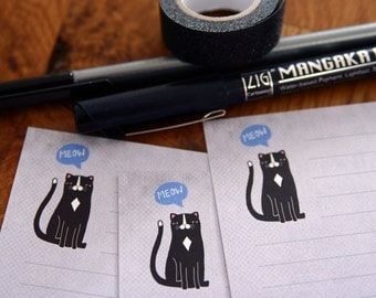 Meow - A5 Stationery - 12, 24 or 48 sheets