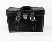 Large Mid Century Leather Camera Bag