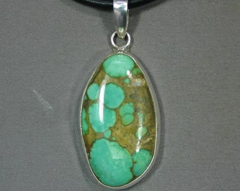 Turquoise and sterling Damale mine pendant James Saunders,  JS-pd-067