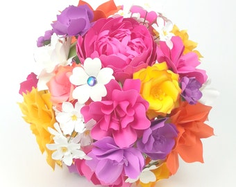 Candy Crush - Paper Bouquet - Customize your Style and Colors - Made To Order