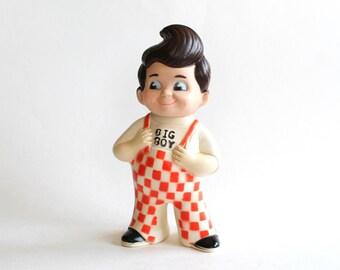 Vintage 1970s Bob's Big Boy Restaurant Vinyl Toy/Bank