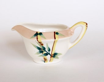 Vintage 1940s Weil Ware Malay Bamboo Ceramic Creamer