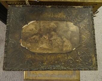 Vintage Victorian Shabby Cottage Chic Lg Vanity Box
