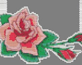 Digital PDF File Set of 5 Bead Stitch Patterns in Brick Stitch Beaded Pendant Necklace Jewelry Ornament Suncatcher