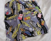 "Beautiful Nicole Miller Novelty Taxi New York Scene Silk Scarf - 13"" Inch Square"