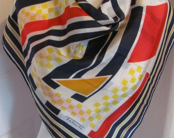 "Talbots // Colorful Soft Silk Scarf  // 31"" Inch 78cm Square // Best of the Best"