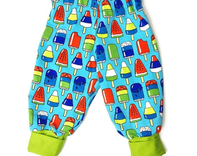 Baby boys pants, turquoise pants, boys outfit, soft pants, size NB - 24 m
