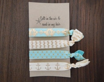 Beach-Nautical Elastic Hairbands