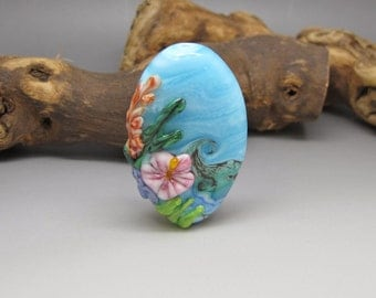 Tropical Seas - Lampwork Focal Bead