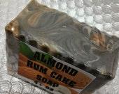 Almond Rum Cake handmade soap