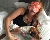 Grapefruit Mint Organic Aromatherapy Sleep Eye Mask Relaxation Headache Migraine Travel Mask Gift for Valentine's Day