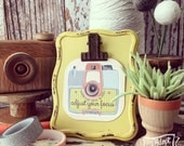 clip easel stand + #TheAdoptShoppecard(s) bundle -- sunny yellow