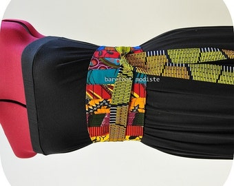 African Patchwork Obi Belt, One of a Kind art to wear, Unique African Patchwork Belt, Corset belt, OOAK Ankara Style, B Modiste Handmade