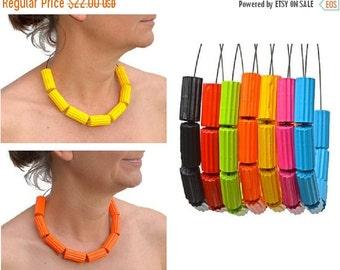 25% Off Neon colors: Necklace TUBI yellow orange magenta