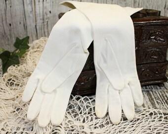 White Gloves, Mid Forearm, Dress Gloves Size 7