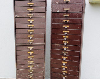 Industrial Machinist Watchmakers Tool Box Wood Cabinet Steampunk Vintage Machine Age