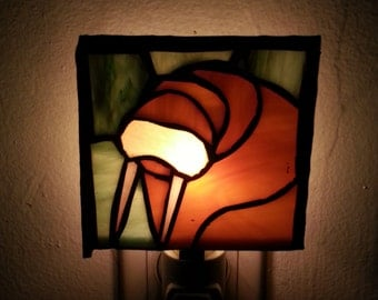 The Walrus was Page Stained Glass Night Lite