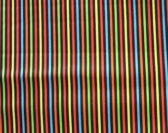 ON SALE Farmers Market Dark Stripes Quilt Fabric by the 1/2 yard