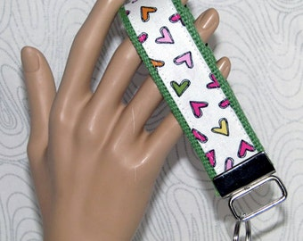 Key fob, key wristlet, keys, key chain, key holder, keys, house keys, car keys, hearts