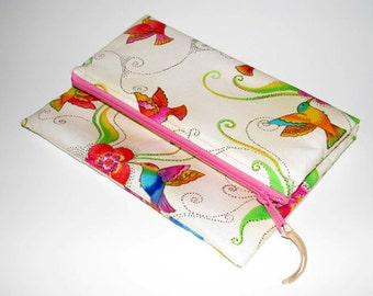 Fold over clutch, foldover clutch, clutch, handbag, humming birds, Laurel Burch, purse, fashion accessories, foldover, foldover purse