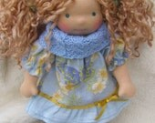 RESERVED for Meaghann - Sitting style Waldorf Inspired Doll , 9-10 inch