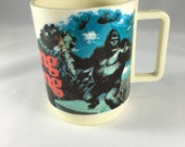 Vintage King Kong Cup, Made in USA, 1970's, deka, Dino De Laurentis Corporation