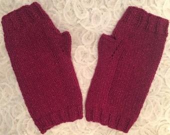 Fingerless Gloves, Pink Fingerless Gloves, Maroon Fingerless Gloves, Sparkly Gloves, Sparkly Fingerless Gloves, Fashion Gloves, Gift For Her