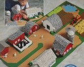 LITTLE FARM - Adorable & Fun Plastic Canvas Pattern Book - For KIDS - Boys-Girls