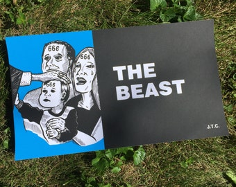 The Beast screen print