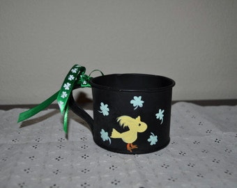St Patricks Day Woodstock Tin Cup