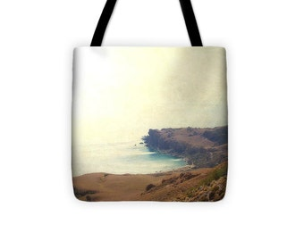 Art Tote beach Bag Sea Dream photography Fashion photograph photo Nautical Ocean Mediterranean sea ethereal hazy light seascape landscape