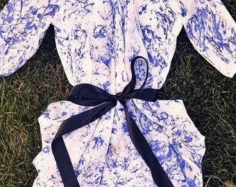 Chiffon Blue Marble Dress