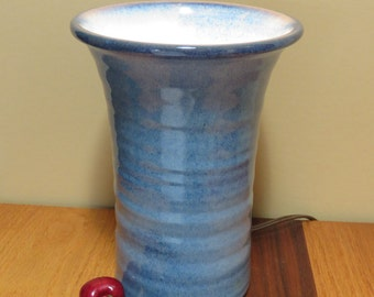 Pottery Uplight in deep blue Lamp indirect lighting