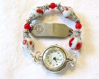 Interchangeable Stretchy Watch Medical ID Bracelet