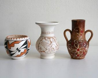Southwest Pottery Trio