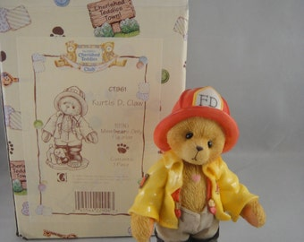 Cherished Teddies Kurtis D. Claw Fireman in Box