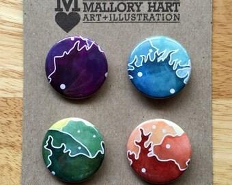 """Monster Art Button Pack - 1.5"""""""