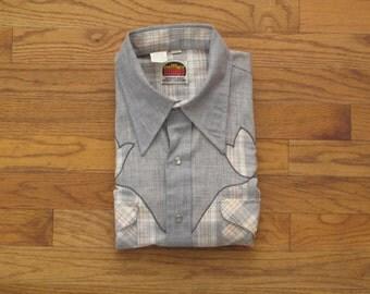 mens vintage Miller western shirt