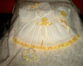 White and Yellow Dress Set in 3 to 6 Months (RESERVED for L)