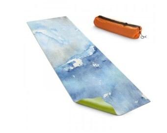 Yoga Mat Ocean Wave Seascape Watercolor Painting - Exercise Mat