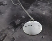 Silver Big Dipper pendant: The constellation of the Big Dipper or the Plough on a sterling silver pendant