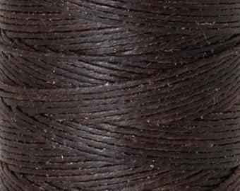 Tools & Supplies-3-Ply Irish Linen Cord-Waxed-Dark Chocolate-Crawford Threads-Quantity 10 Yards