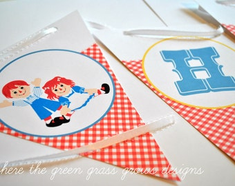 Raggedy Anne and Andy Banner (Bunting)