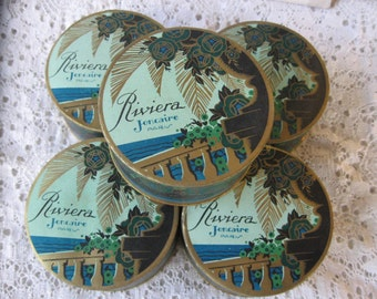 Vintage Art Deco French Face Powder...1920...never used...new old stock...gorgeous!