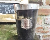 Antique 1892 English Sterling Silver and Horn Trophy Cup - 1/4 Mile Race