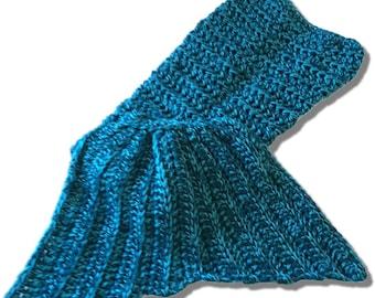 Crochet Mermaid Blanket Afghan Toddler - Preschool - Small Child