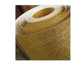 Glitter Gold Self Adhesive Shelf Liner Film Vinyl Peel-Stick Multipurpose Roll Length 1M / 39 inch