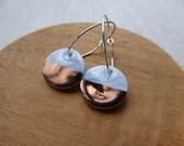 Copper Dip Round Hoop Ear...